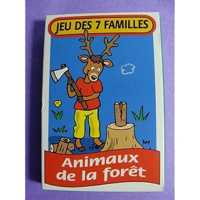 """Jeu de cartes des 7 familles """" Animaux de la fôret"""""""