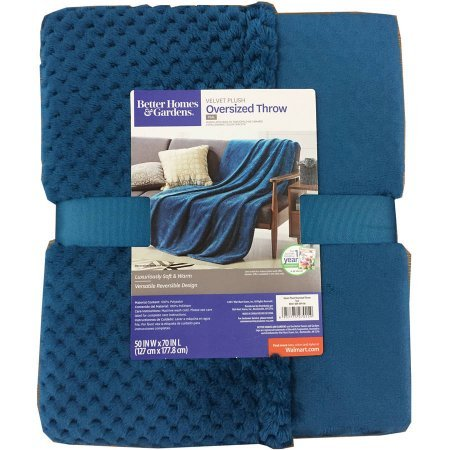 Better Homes and Gardens Throw Blanket 50 Inch X 70 Inch, Teal from Better Homes & Gardens