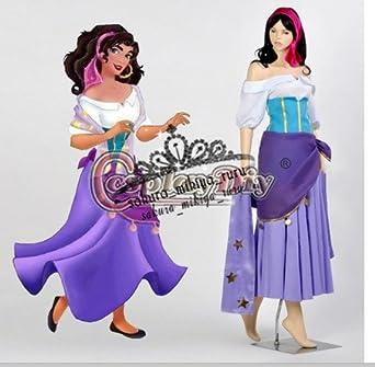 コスプレ衣装ディズニー , ノートルダムの鐘 エスメラルダ +耳 オーダーサイズ可能 クリスマス、