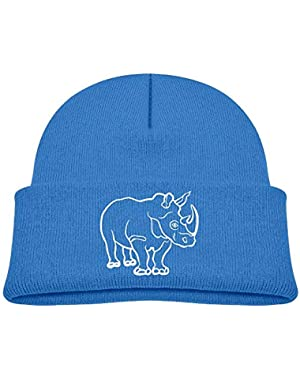 Fashion African Rhino Printed Infant Baby Winter Hat Beanie