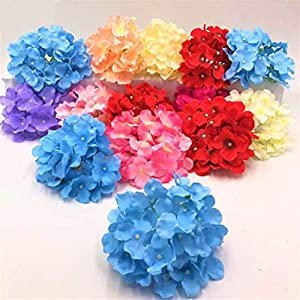 50pcs/pack Amazing colorful decorative artificial Hydrangea silk DIY flower 2