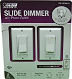 Feit Electric Slide Simmer w/Preset Switch (2-Pack), White