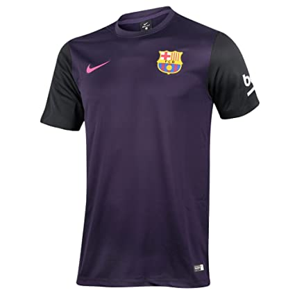 Amazon.com   2016-2017 Barcelona Away Nike Supporters Tee (Kids ... 68cb8a67ab1a
