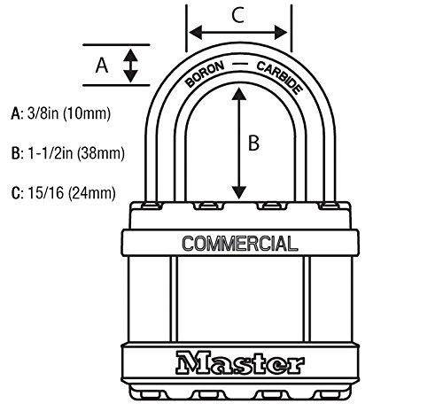 Master Lock Magnum Padlocks - 2'' W x 1-1/2''L Shackle, Four (4) Keyed Alike Locks #M5NKALFSTS-4 w/BumpStop Technology by Master Lock (Image #2)
