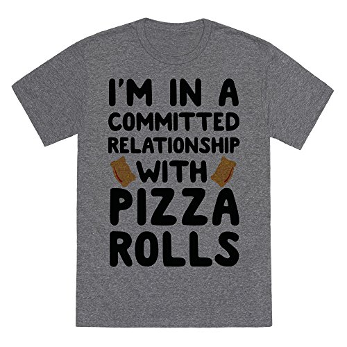 im-in-a-committed-relationship-with-pizza-rolls-heathered-gray-mens-heathered-tee-by-lookhuman