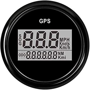 Adoner Medidor de velocímetro digital GPS universal para ...