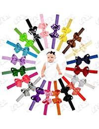 Interchangeable Baby & Newborn Bows and Headbands Set by...
