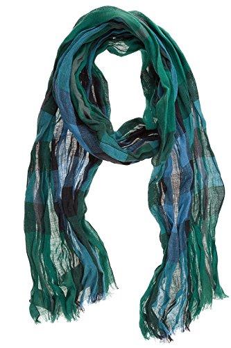 Burberry men's linen scarf mu giant green
