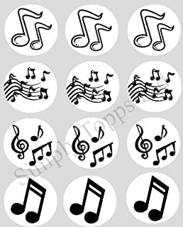 51Ey8Wg2yvL._AC_UL320_SR258320_ amazon com music sugar decorations cookie cupcake cake 12 count on printable music note cake topper