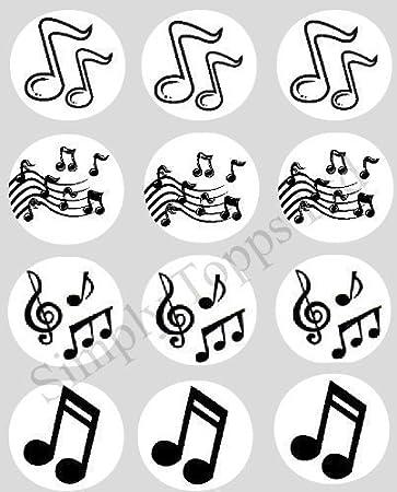 12 Musik Notizen reispapier fee / becher kuchen 40mm cake topper ...
