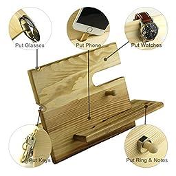 lieomo handmade Gift - phone, wallet, pens, rings, coins wood Organizer Men\'s Gift