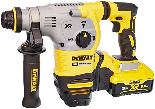 "DEWALT DCH293R2 20V Max XR Brushless 1-1/8"" L-Shape SDS Plus Rotary Hammer Kit by DEWALT"