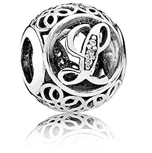 Charm perfect brand S925 sterling silver Vintage L Pendants & Charms beads suitable for pandora style bracelet
