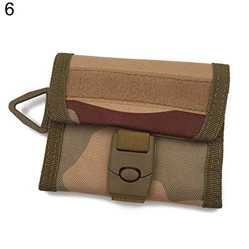 Connoworld - Tactical Triple-folding Wallet Men Sport Purse Pouch Card Pocket Cash Coin Holder Clutch Key Hanging Bag - 6# (Triple Folding Clasp)