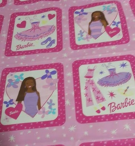 African-American Mattel Barbie Pillow Panels Dream Time Fabric by The Yard ()