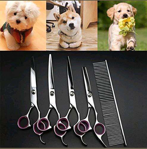disponibile Forbici generiche intagliate per toelettatura del cane, cane, cane, kit professionale per tagliare i capelli, forbici ricurve, strumento professionale per capelli  fino al 60% di sconto