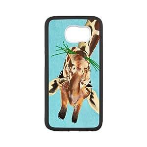 Giraffe Series, Samsung Galaxy S6 Case, Animal Painting Portrait Painting Giclee Print Acrylic Painting Case for Samsung Galaxy S6 [White]