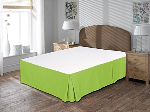 Precious Star 800 Thread Count 1pc Bed Skirt Solid Twin Size 10'' Drop Length Super Soft 100% Egyptian Cotton All Color (Sage - By Address Tracking Fedex