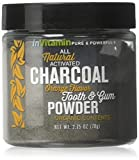 Natural Whitening Tooth & Gum Powder with Activated Charcoal, 2.75oz - Orange Flavor
