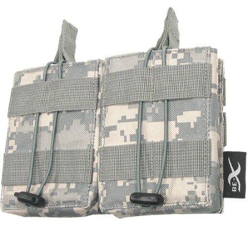 BE-X Offene Magazintasche für CQB, für MOLLE, für 2 G3/M14 Magazine - UCP (ACU)