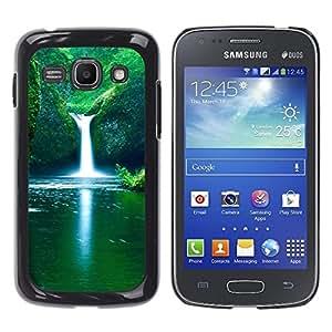 TopCaseStore / la caja del caucho duro de la cubierta de protección de la piel - Waterfall Fresh Spring - Samsung Galaxy Ace 3 GT-S7270 GT-S7275 GT-S7272