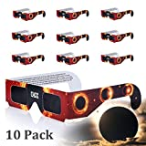 Eclipse Glasses, Solar Eclipse Glasses, COOLQO [Eye Protection] CE and ISO Certified Safe Shades [safety glasses] for Direct Sun Viewing (10 Pack) Assorted #02