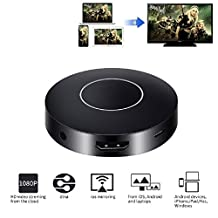 Efanr Wifi Display Dongle, Q1 Wireless with Marquee Light HDMI 1080P Full HD + AV Dual Output Mini Display Receiver Converter Adapter Support DLNA Airplay Miracast for IOS /Android / Windows / Mac