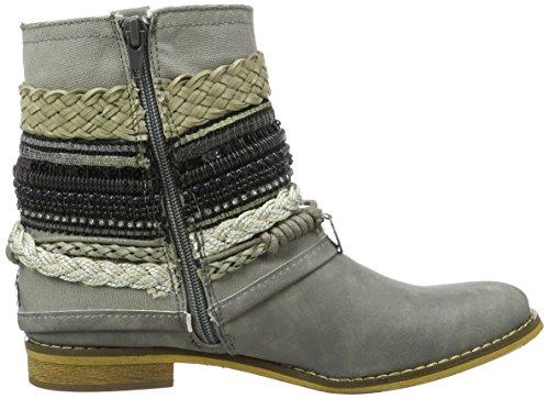Bullboxer Ankle Boots, Botas Biker para Mujer Grau (ice)