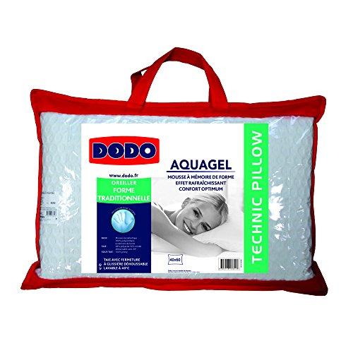 oreiller aquagel dodo Dodo 8221640 Thermogel Oreiller Uni Taie Polyester/Modal + sous  oreiller aquagel dodo