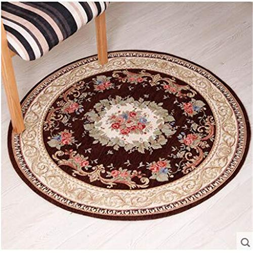 BeesClover Round Carpet Living Room Carpet Swivel Chair Computer Chair Hanging Household Dining Room Bedroom Carpet red 029 90cm Round by BeesClover (Image #2)