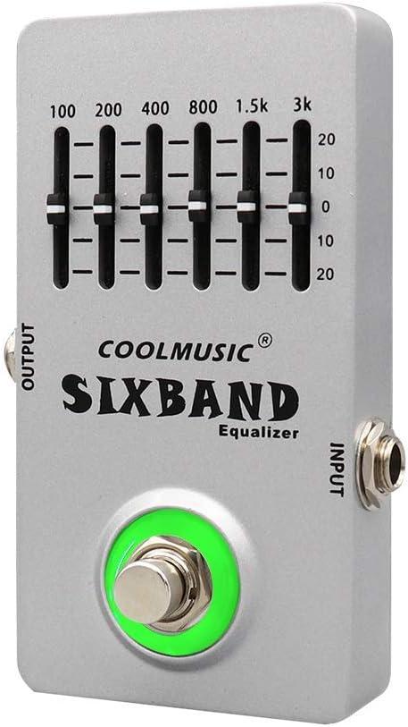 Coolmusic C-EQ01 Pedal ecualizador Pedal de guitarra Efectos Pedal de bajo Pedal de guitarra acústica