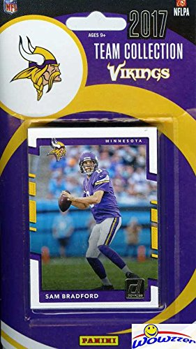 Minnesota Vikings Team Set - Minnesota Vikings 2017 Donruss NFL Football Factory Sealed Limited Edition 12 Card Complete Team Set with Sam Bradford, Dalvin Cook Rookie, Legend Randy Moss & More! Shipped in Bubble Mailer! WOWZZER!