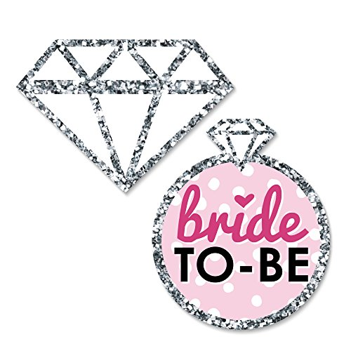Bride-To-Be - DIY Shaped Bridal Shower & Bachelorette Party Cut-Outs - Classy Bachelorette Party Decorations - 24 - Diamond Out Cut
