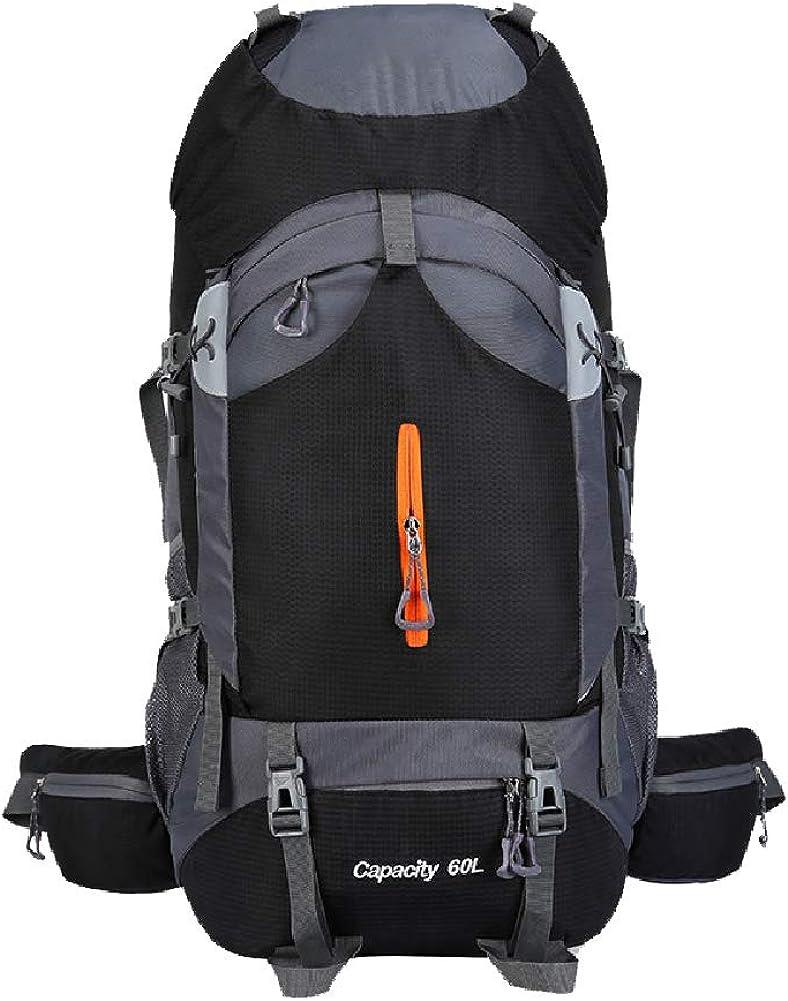 60Lアウトドアクライミングバッグ、大容量バックパック、男性と女性用の防水レジャートラベルバッグ