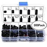 300PCS Black M3 Nylon Male Female Hex Spacers Screw Nut Stand-Off Plastic Accessories Assorted Assortment Kit 6MM 8MM 10MM 12MM, Sold by Ltvystore