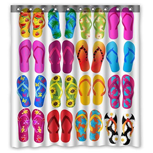 Colorful Beach Flip Flops