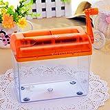 SENREAL Hand Paper Shredder Mini Cutting Machine Portable Manual A6 Paper Cutting Tool Desktop Stationery Orange