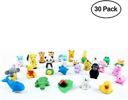 El Original Super Kawaii Cute animales gomas de borrar (30 unidades): Amazon.es: Oficina y papelería