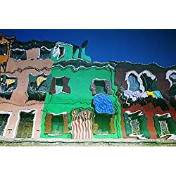 Reflections Of Burano Housing Italy Poster Print (34 x 22)