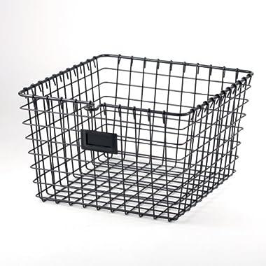 Spectrum Diversified 47976 Storage Basket, Medium, Industrial Gray