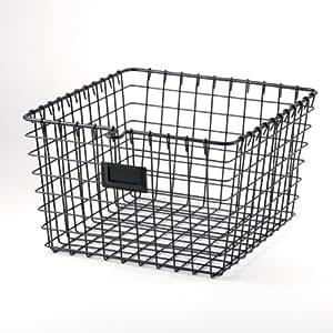 Spectrum Diversified Wire Storage Basket, Medium, Industrial Gray