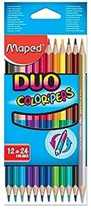 Helix Maped Duo - Lapiceros de colores de doble punta (12 unidades)