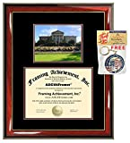 Redlands University Diploma Frame Graduation School Degree Frame Double Matted Campus Photo Graduation Certificate Plaque Framing Graduate Gift