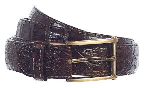 GIFT_Men's Premium Handmade Genuine Crocodile Leather Belt_MULTI COLORS (30, Brown) by 8 Moon