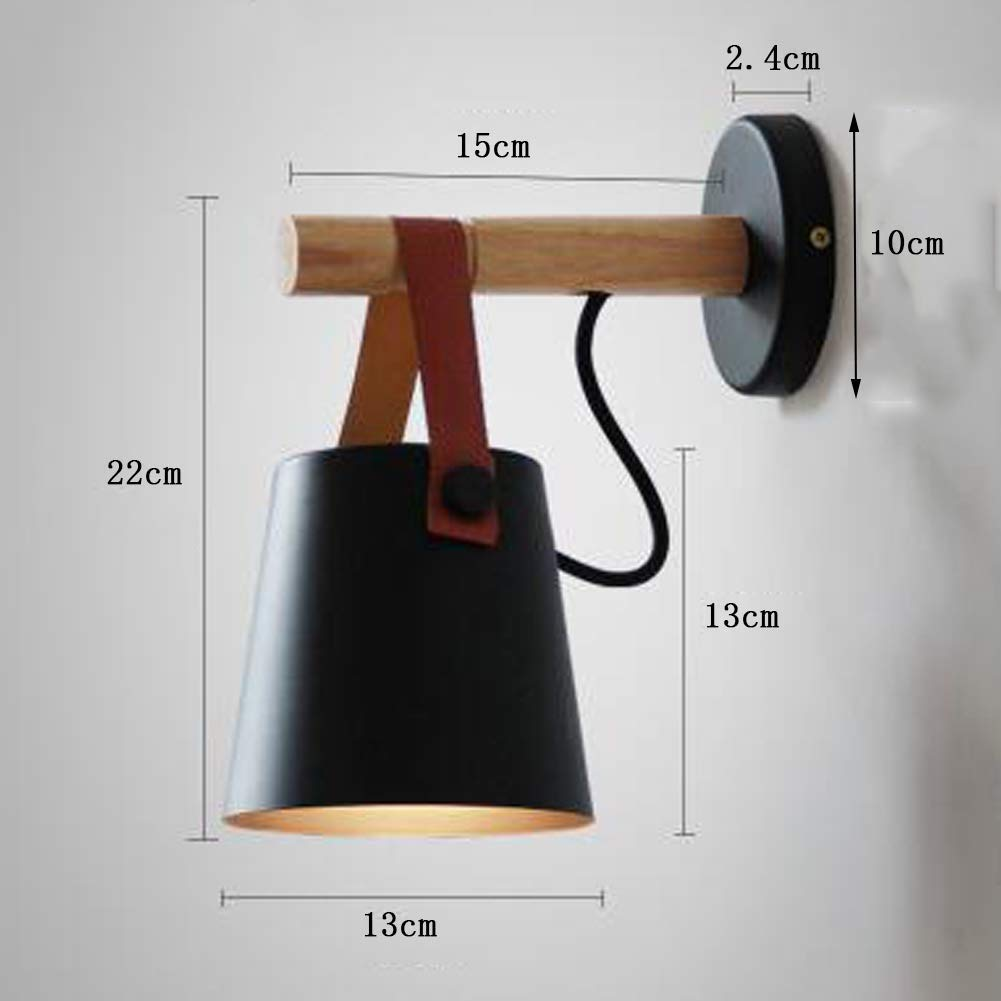 Modern Wood Wall Lights, Mini Nordic Wall Lamps, Wooden Bedside Tables Embossed lamp E27 Metal Forged Tones, for Bedroom Living Room House, Bar, ...