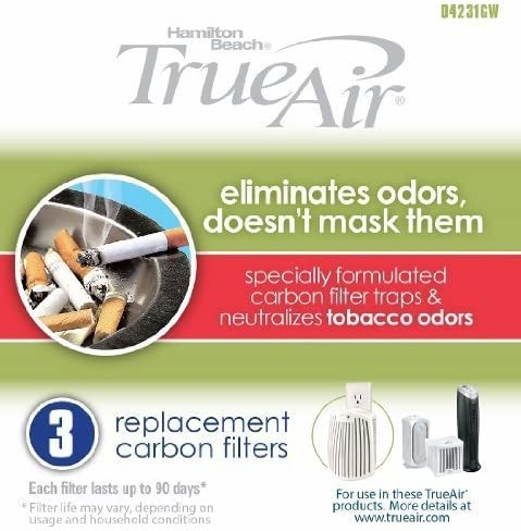 Hamilton Beach True Air Carbon Filter for Tobacco Odors (3 Pack) by BulkFilter: Amazon.es: Hogar
