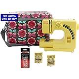 Janome Honeycomb Sew-Mini Sewing Machine With Bonus Bundle