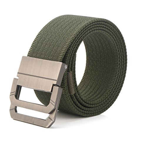 RUPUMPACK Tactical Belt, Nylon Military Style Casual Outdoor Webbing D-Ring Buckle Belt, Adjustable Waistband, Fit Waist 28