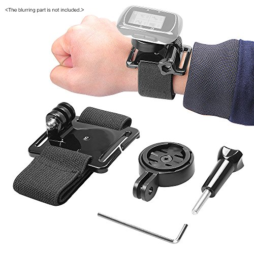 Wrist Hand Strap Band Belt Armband with Holder Adapter for Garmin GPS Edge Cycle 25 200 500 510 520 800 810 for Gopro