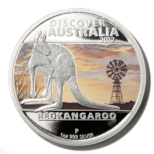 Discover Australia Red Kangaroo $1 2012 1 oz Proof Silver Coin w/Box & - Proof Kangaroo